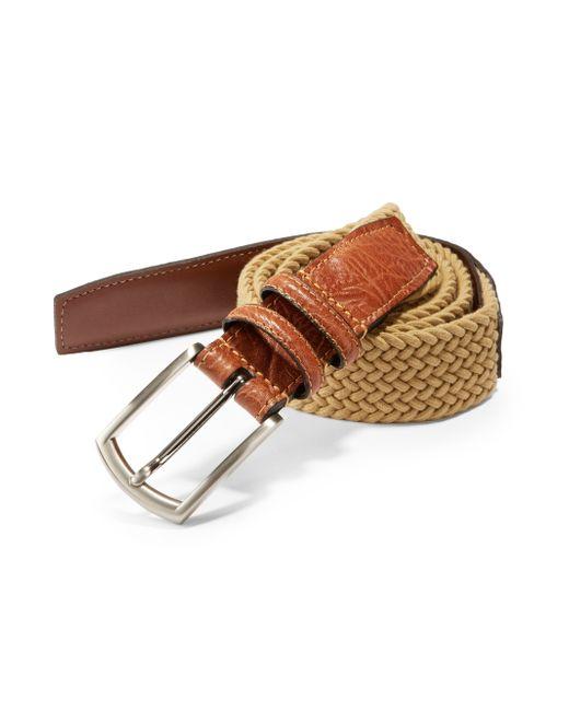 Saks Fifth Avenue | Beige Stretch Leather Belt for Men | Lyst