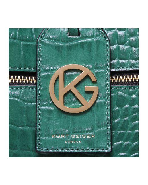 Kurt Geiger | Green Croc Beatrice Tote Bag | Lyst