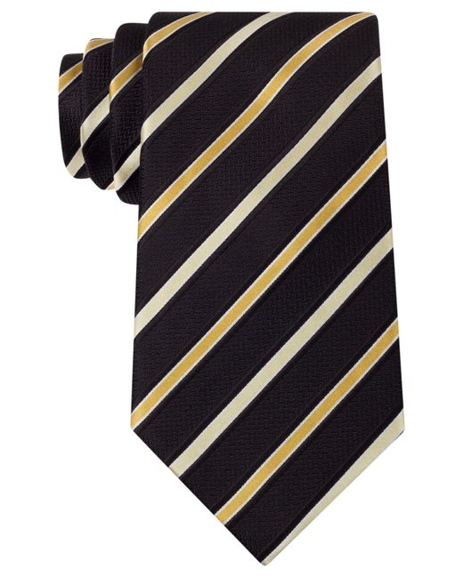 Sean John | Yellow Louis Stripe Extra Long Tie for Men | Lyst