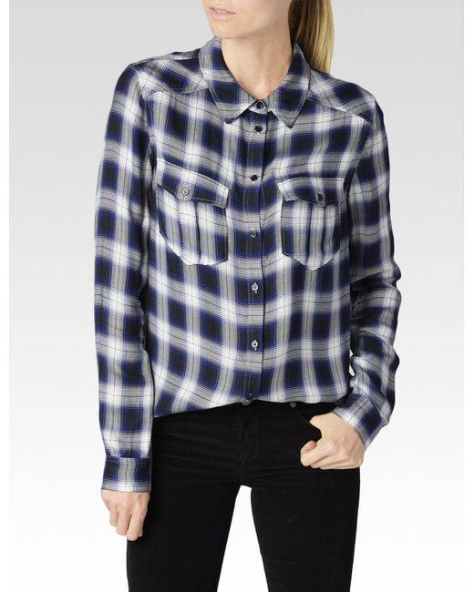 PAIGE | Blue Mya Shirt | Lyst