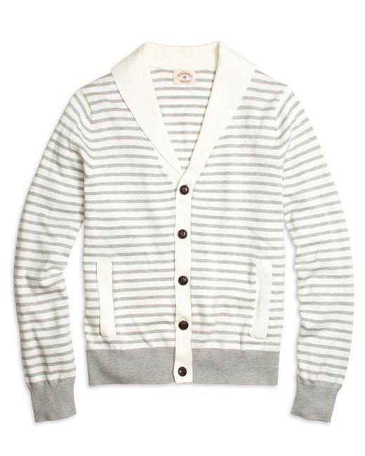 Brooks Brothers | Gray Supima® Cotton Stripe Cardigan for Men | Lyst
