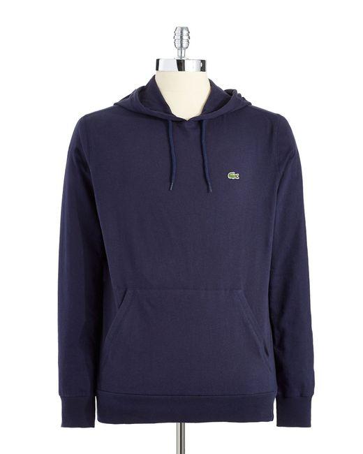 Lacoste   Black Jersey Hoodie for Men   Lyst