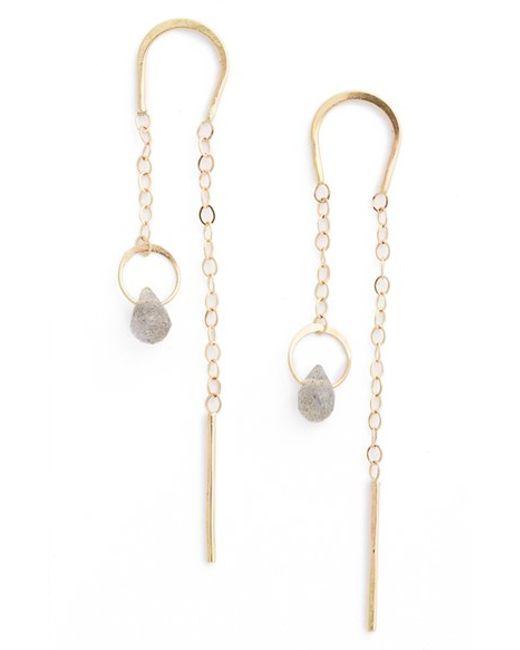 Melissa Joy Manning   Yellow Semiprecious Stone Threader Earrings   Lyst