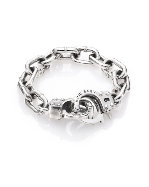 King Baby Studio | Metallic Handcuff Clasp Bracelet for Men | Lyst