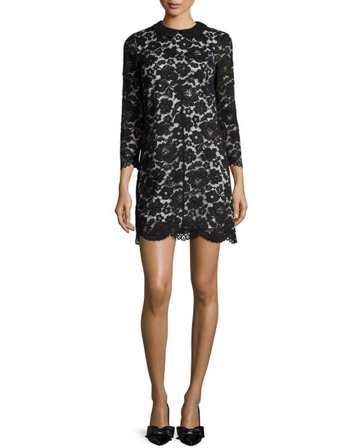 Ted Baker | Black Ameera Lace Sheath Dress | Lyst