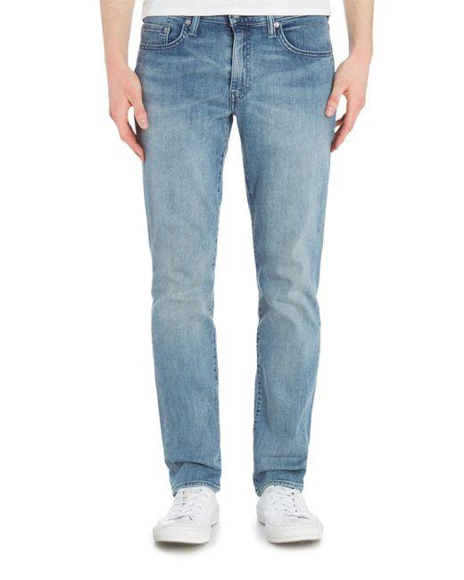 levi 39 s 511 benedict canyon slim fit jean in blue for men. Black Bedroom Furniture Sets. Home Design Ideas