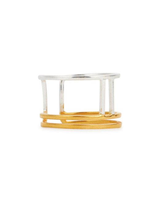Maya Magal | Metallic Parallel Silver And 18kt Gold-plated Ring | Lyst