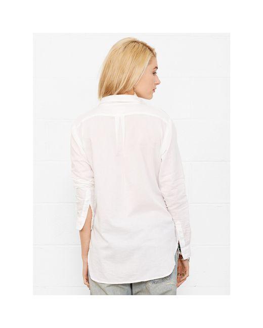 Denim & Supply Ralph Lauren   White Cotton Boyfriend Shirt   Lyst