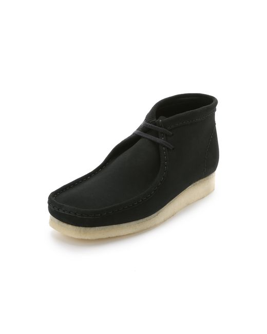 Clarks | Wallabee Boots - Black for Men | Lyst