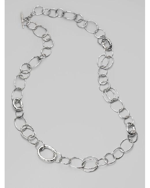 Ippolita   Metallic Glamazon Sterling Silver Bastille Element Link Chain Necklace   Lyst