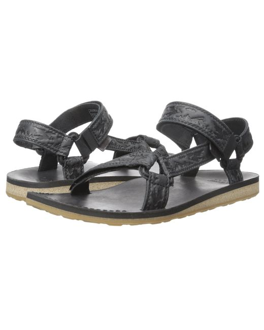 Teva Original Universal Crafted Leather In Black Lyst