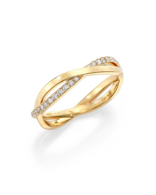 De Beers | Metallic Infinity Diamond & 18k Yellow Gold Half Band Ring | Lyst