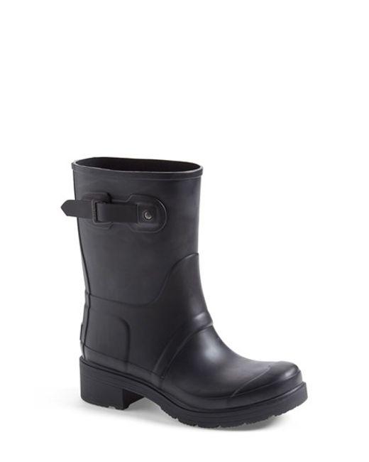 Hunter | Black 'original' Waterproof Ankle Rain Boot | Lyst