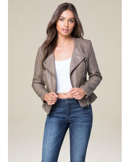Bebe   Multicolor Quilted Moto Jacket   Lyst