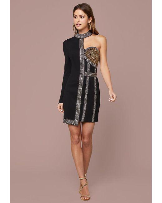 Bebe Beaded Corset Dress in Black - Save 2% - Lyst 2777cf675