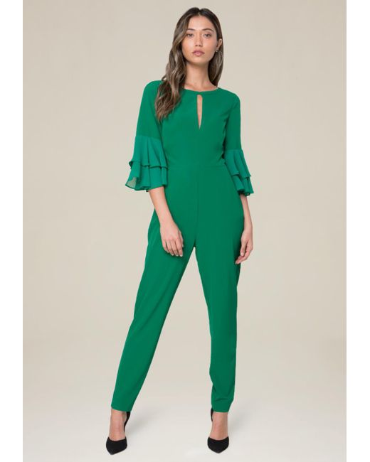 Bebe | Green Nora Jumpsuit | Lyst