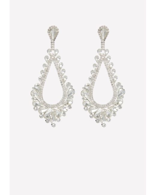 Bebe - Metallic Glam Teardrop Earrings - Lyst