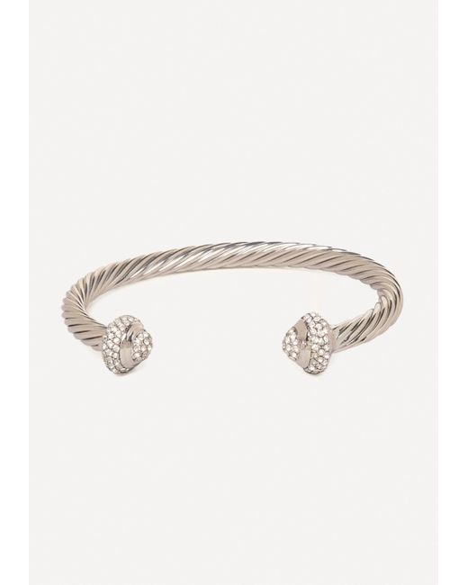 Bebe | Metallic Twisted Metal & Stone Cuff | Lyst