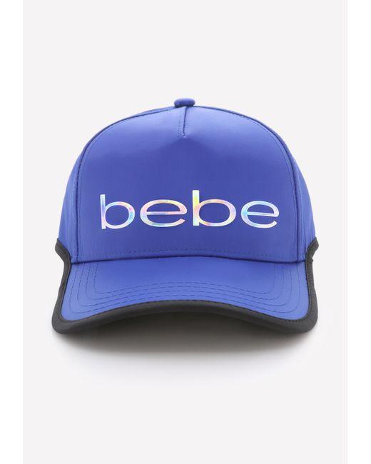 Bebe Contrast Edge Ball Cap In Blue Royal Blue Save 24