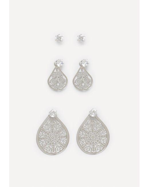 Bebe | Metallic Stud & Filigree Earring Set | Lyst