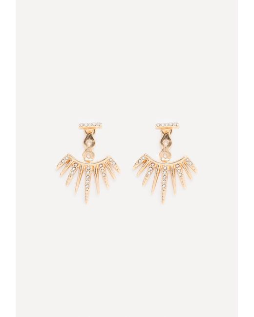 Bebe | Metallic Starburst Earrings | Lyst