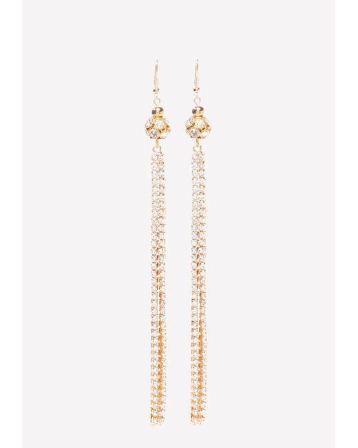 Bebe | Metallic Fireball Duster Earrings | Lyst