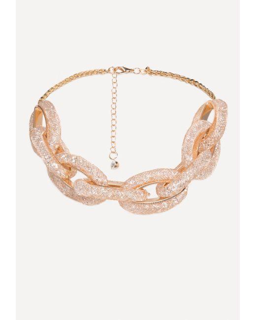 Bebe - Multicolor Crystal Link Necklace - Lyst