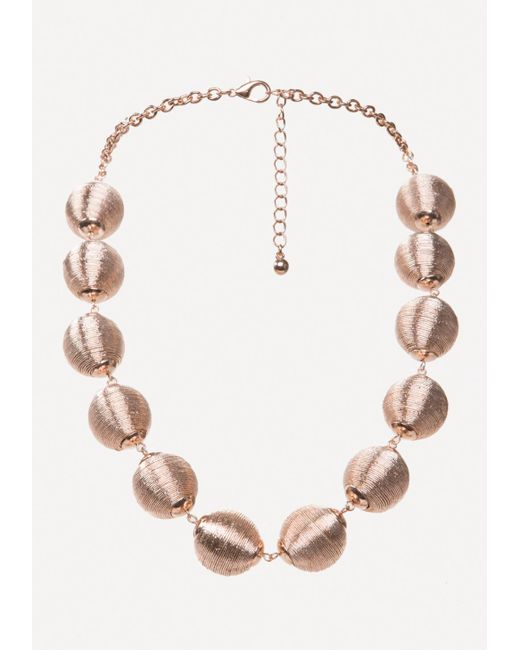 Bebe | Metallic Thread Necklace | Lyst