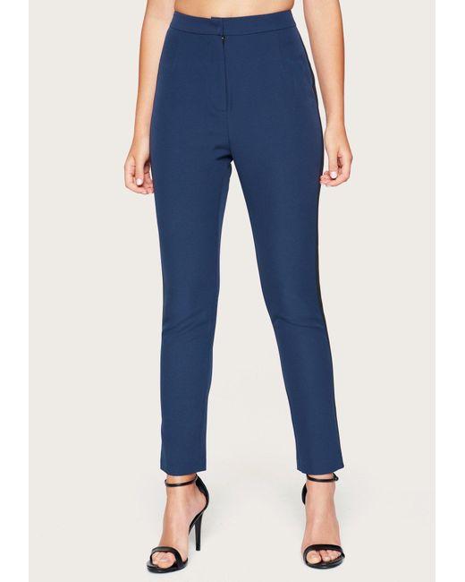 Bebe Blue High Waist Tuxedo Pants