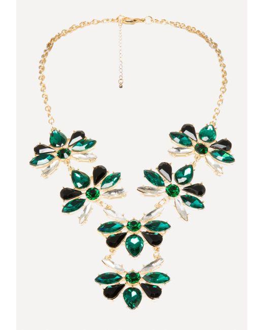 Bebe - Multicolor Crystal Cluster Necklace - Lyst