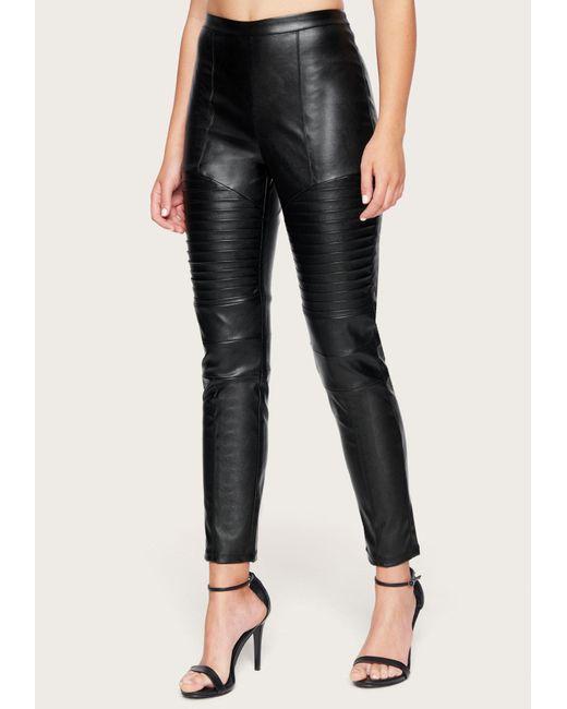 Bebe Black Faux Leather Moto Leggings