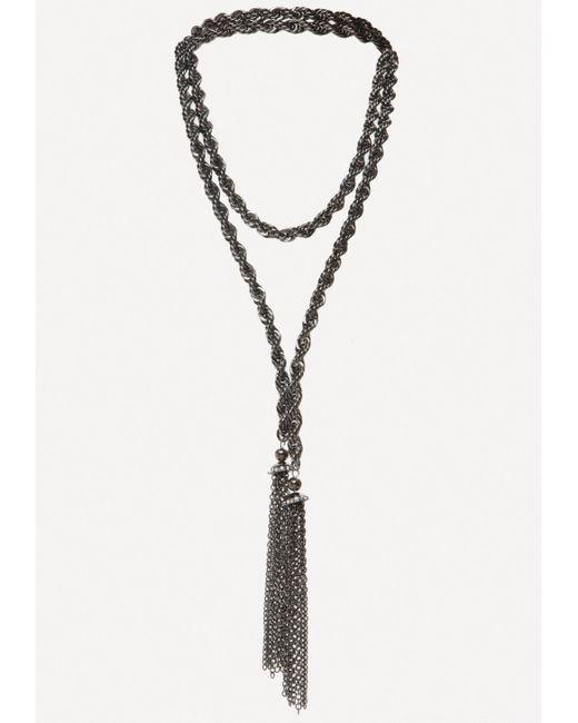 Bebe   Metallic Rope Lariat   Lyst