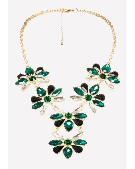 Bebe - Multicolor Crystal Cluster Necklace - Lyst