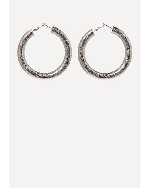 Bebe - Metallic Thick Hoop Earrings - Lyst