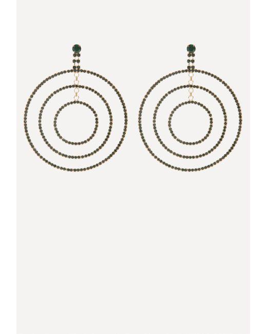 Bebe - Metallic Triple Hoop Earrings - Lyst
