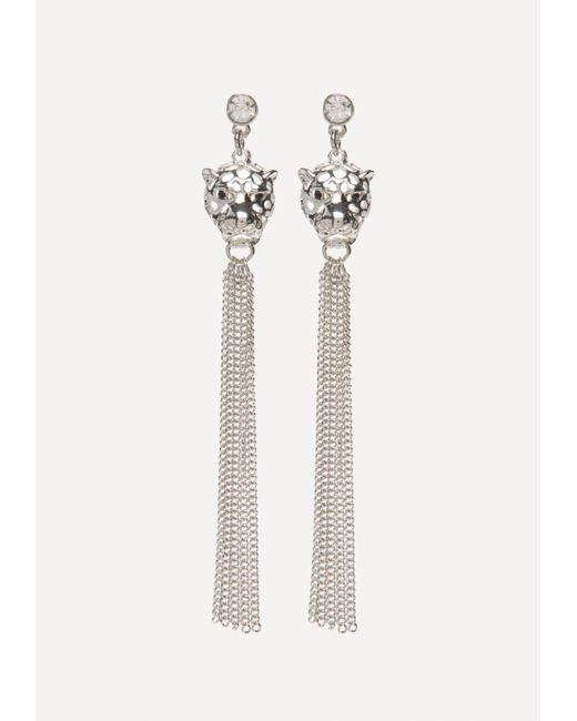 Bebe   Metallic Leopard Duster Earrings   Lyst