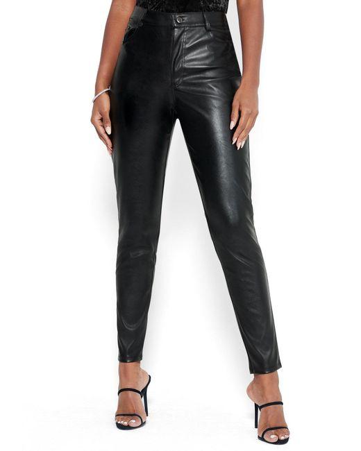 Bebe Black Faux Leather Pants