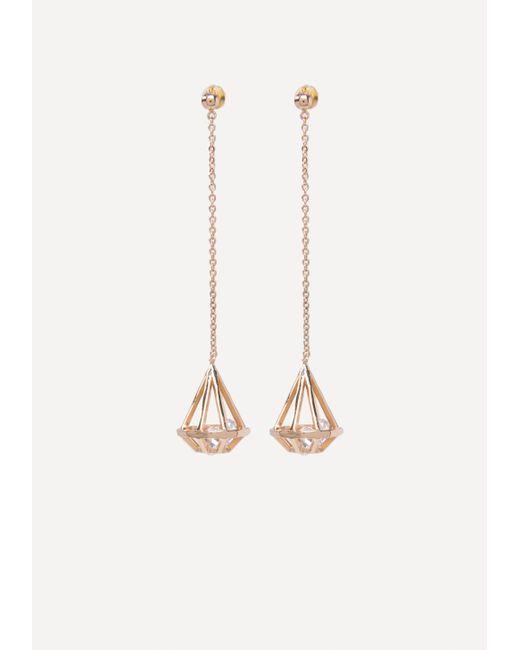 Bebe - Multicolor Geo Crystal Drop Earrings - Lyst