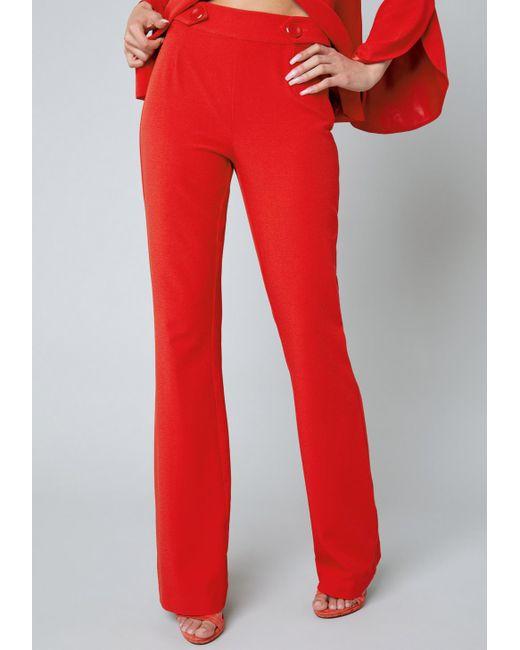 Bebe | Red Kayla Pants | Lyst