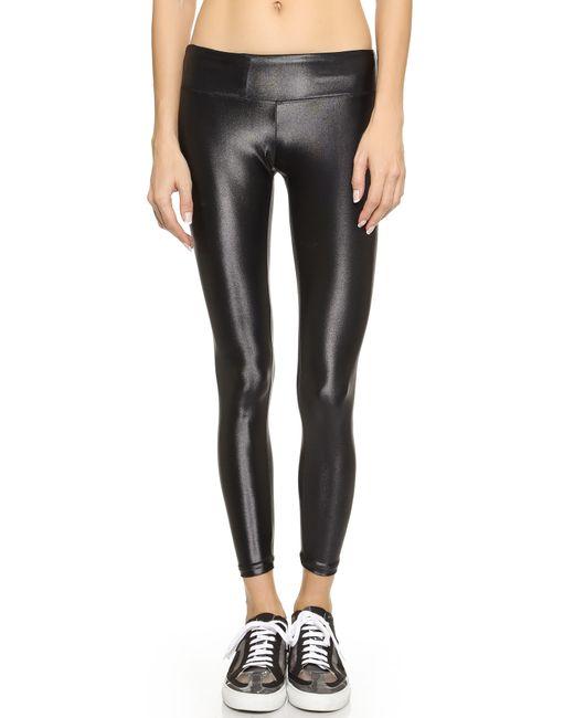 Koral Activewear | Black Shiny Metallic Active Legging | Lyst