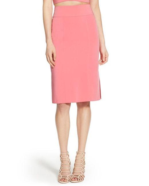 leith high waist skirt in pink pink cyclamen lyst