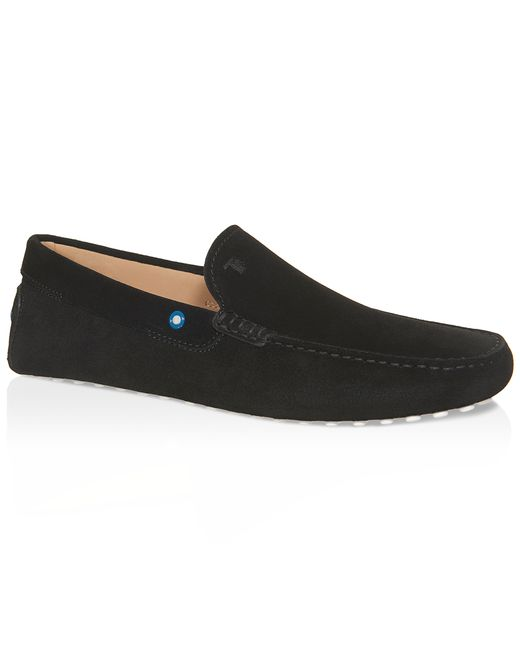 tod s gommino driving shoes in suede in black for