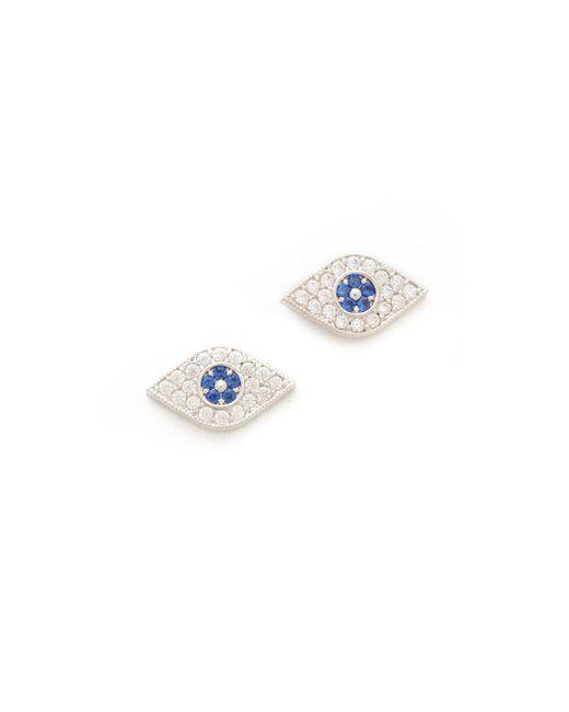 Tai | Blue Evil Eye Stud Earrings | Lyst
