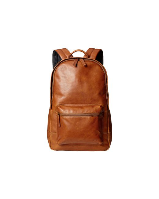 Fossil   Brown Estate Leather Backpack for Men   Lyst