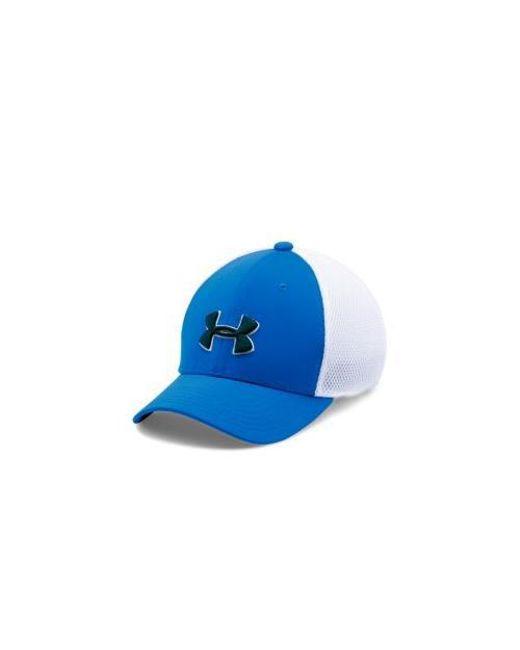 Lyst - Under Armour Classic Mesh Golf Cap Boys 8 in Blue for Men 3ed1262c0452