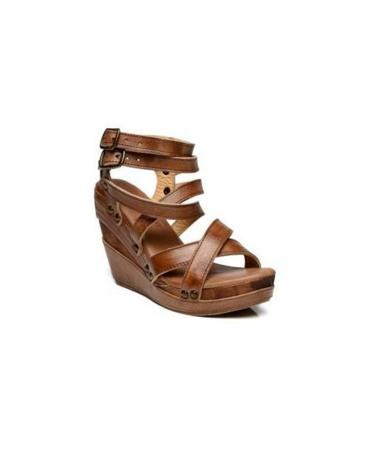 045dcb13641 Lyst - Bed Stu Juliana Strappy Wedge in Brown
