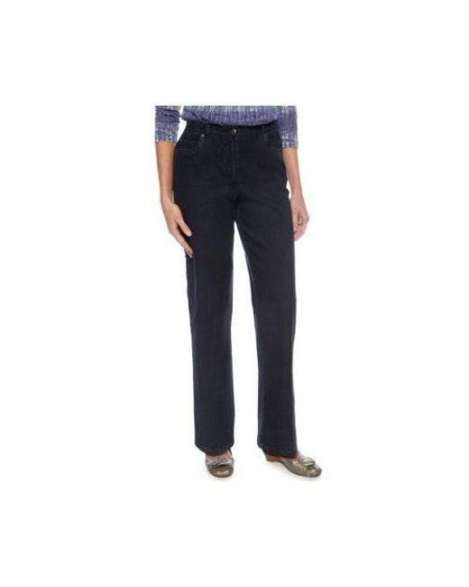 307a33d1a02 Lyst - Ruby Rd Classic Elastic Side Jeans in Blue