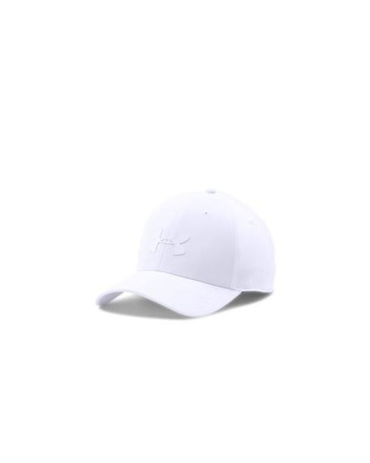 new style 43b1e 520b4 Under Armour - White Headline Stretch Fit Cap for Men - Lyst