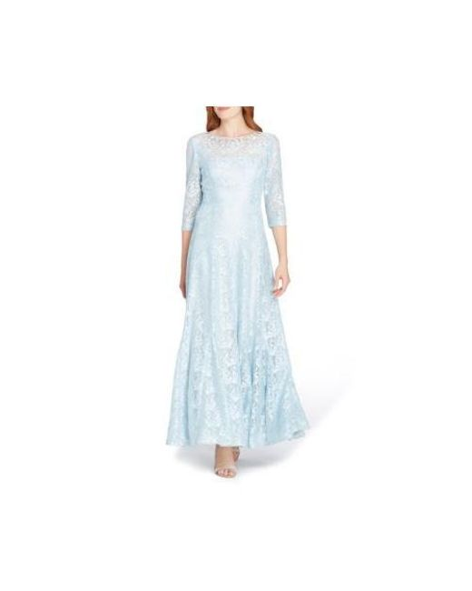 Lyst - Tahari Sequin Lace Gown in Blue