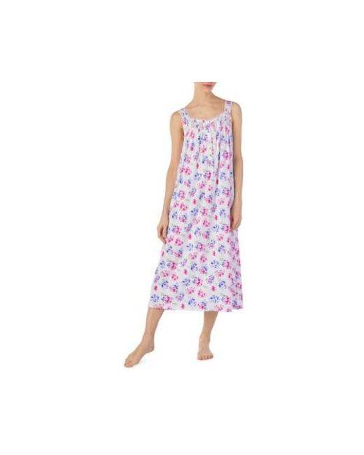 8237831604 Lyst - Eileen West Sleeveless Cotton Modal Ballet Night Gown in Purple
